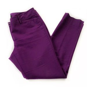WHBM • Perfect Form Slim Leg Purple Pants